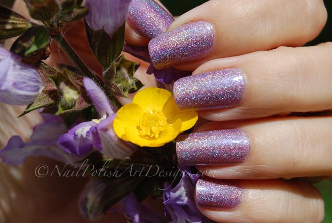 Purple Holo Nail 2 Milani 3D Holographic Hi Res Polish Review
