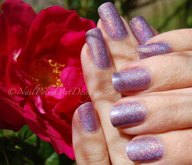 Purple Holo Nail 4 Milani 3D Holographic Hi Res Polish Review