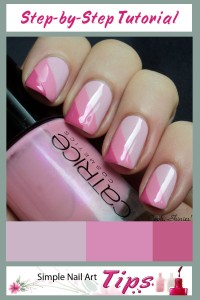 Pink Striped Taped Nail Art 200x300 Pink Striped Taped Nail Art