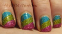 Pink Striped Nail Art Manicure Tutorial