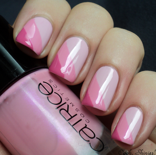 Pink Striped Nail Art Manicure Tutorial