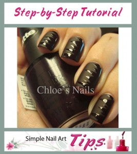 Black Shredded Nail Art 267x300 Black Shredded Nail Art Manicure Tutorial