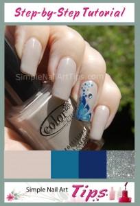 Blue Marble Flower Nail Art Tutorial 204x300 Blue Marble Flower Nail Art Tutorial