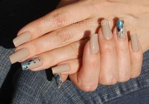 Blue Marble Flower Nail Art Tutorial 6 300x209 Blue Marble Flower Nail Art Tutorial 6
