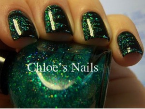 Chloes Nails Green Shred 300x225 Chloes Nails Green Shredded Nail Art Tutorial