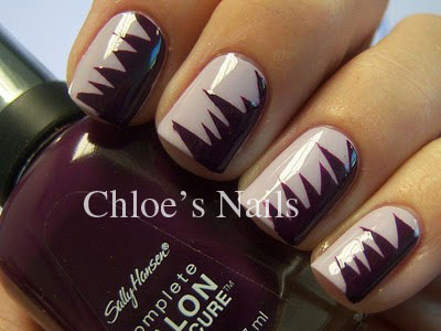 Chloes Nails Pink Shred1 Black Shredded Nail Art Manicure Tutorial