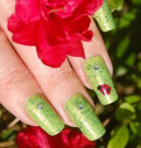Ladybug nail art tutorial 1 285x300 Ladybug nail art tutorial 1