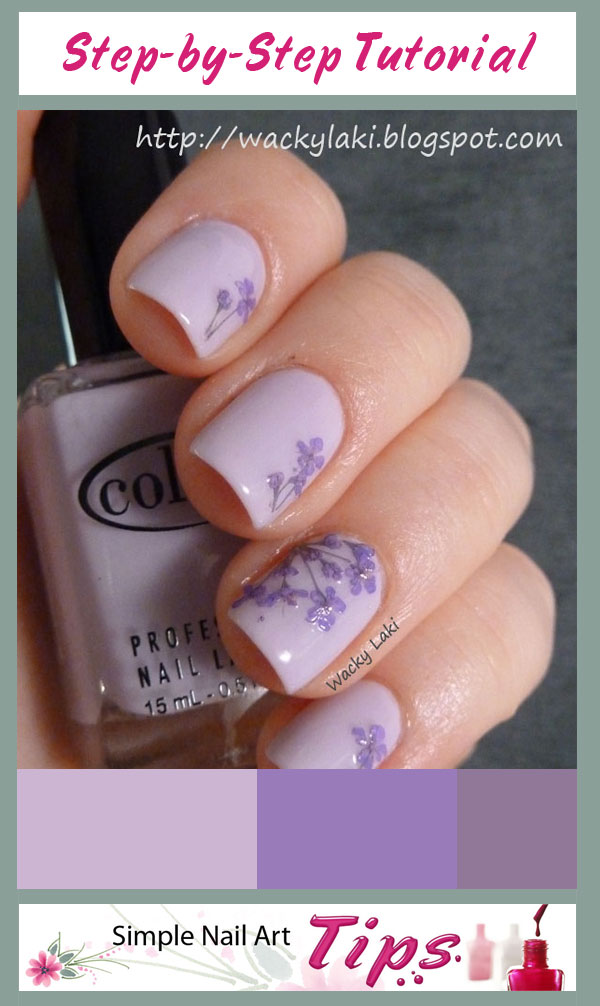 Lavender Dried Flower Nails1 Lavender Dried Flower Nail Art Tutorial