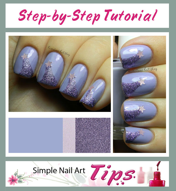 Lavender Shooting Stars Nail Art Tutorial | Simple Nail Art Tips