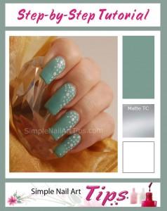 Matte Turqoise Nail Art Tutorial 238x300 Matte Turqoise Nail Art Tutorial