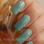 Matte Turqoise Nail Art Tutorial e1338431574362 150x150 SIMPLE: White Dots on Turquoise Nail Art Tutorial