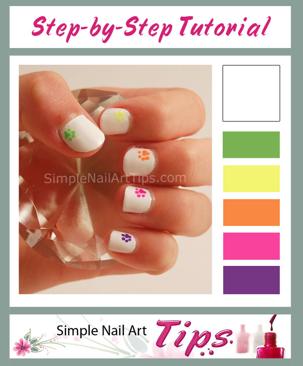 Simple Sweet Paw Prints Nail Art Tutorial Simple Nail Art Tips
