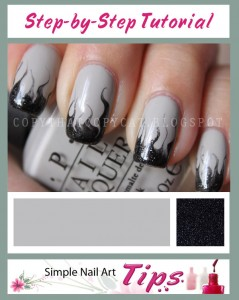 Smoky Marble Nail Art Tutorial 239x300 Smoky Marble Nail Art Tutorial