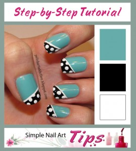Turquoise Black White Dotted Tutorial 269x300 Turquoise Black White Dotted Tutorial