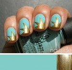 Turquoise Gold Explosion Nail Art Tutorial e1336616699428 150x146 Gold Explosion Nail Art Tutorial
