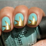 Turquoise Gold Explosion Nail Art Tutorial e1337056939957 150x150 Tutorials