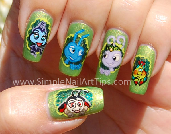 Ana Bugs Life Nail Art Crop Showcase Disneys Manicure