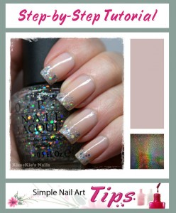 Holographic French Manicure 248x300 Holographic French Manicure