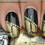 Black Gold French Nail Art Tutorial e1349151864292 150x150 SIMPLE TUTORIAL: Gold Crackle Diagonal French on Black Nail Art