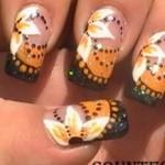 Black Orange Flower Nail Art Tutorial e1348259990732 150x150 International Nail Art Tutorial Contest Entries