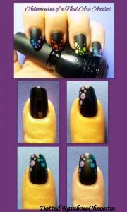Dotted Rainbow Cheveron Nail Art Tutorial 180x300 Dotted Rainbow Cheveron Nail Art Tutorial