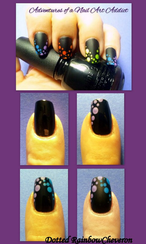 Dotted Rainbow Cheveron Nail Art Tutorial Chevron Entry
