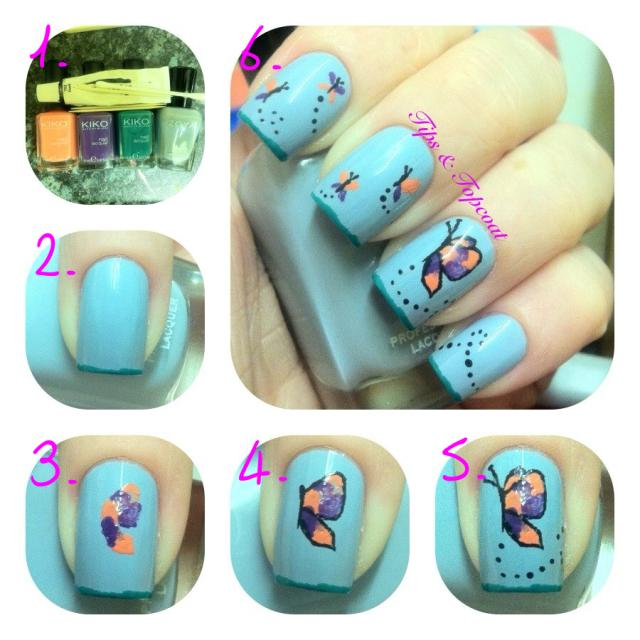 tutphoto Butterfly Nail Art Tutorial Entry