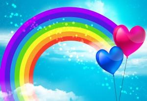 rainbow and balloons 300x206 rainbow and balloons