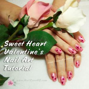 Sweet Pink Heart Nails For Valentines Nail Art Tutorial Simple