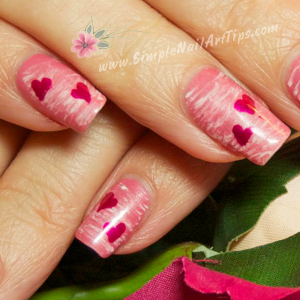 Pink Nails for Valentine Art Tips Tutorial th 300x300 Sweet Pink Heart Nails for Valentines   Nail Art Tutorial