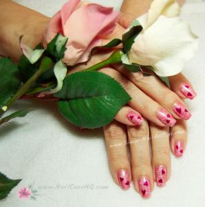 Pink Valentine Nail Art Tips Tutorial 298x300 Pink Heart Nails For Valentine Nail Art Tips Tutorial