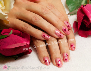 Valentine Nail Art Tips Manicure 300x233 Sweet Pink Heart Nails for Valentines   Nail Art Tutorial