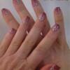 gradient valentine stamping nail art