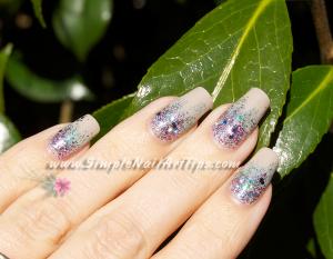 Pink Turquoise Glitter Gradient nail art 2 300x233 Pink Turquoise Glitter Gradient nail art 2