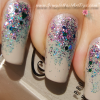 www.SimpleNailArtTips.com Pink-Turquoise-Glitter-Gradient-nail-art-closeup image Holographic