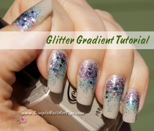 Pink Turquoise Glitter Gradient nail art Pin 300x256 Glitter Nail Polish Gradient Nail Art Tutorial   Pink and Turquoise